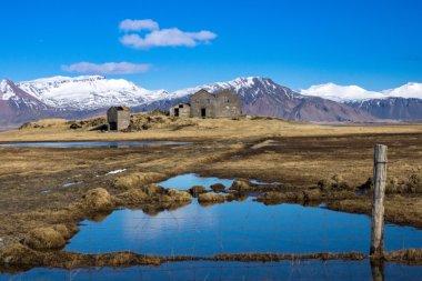 """Картина, постер, плакат, фотообои """"фермерский дом, исландия постеры печать фотографии города"""", артикул 70489539"""