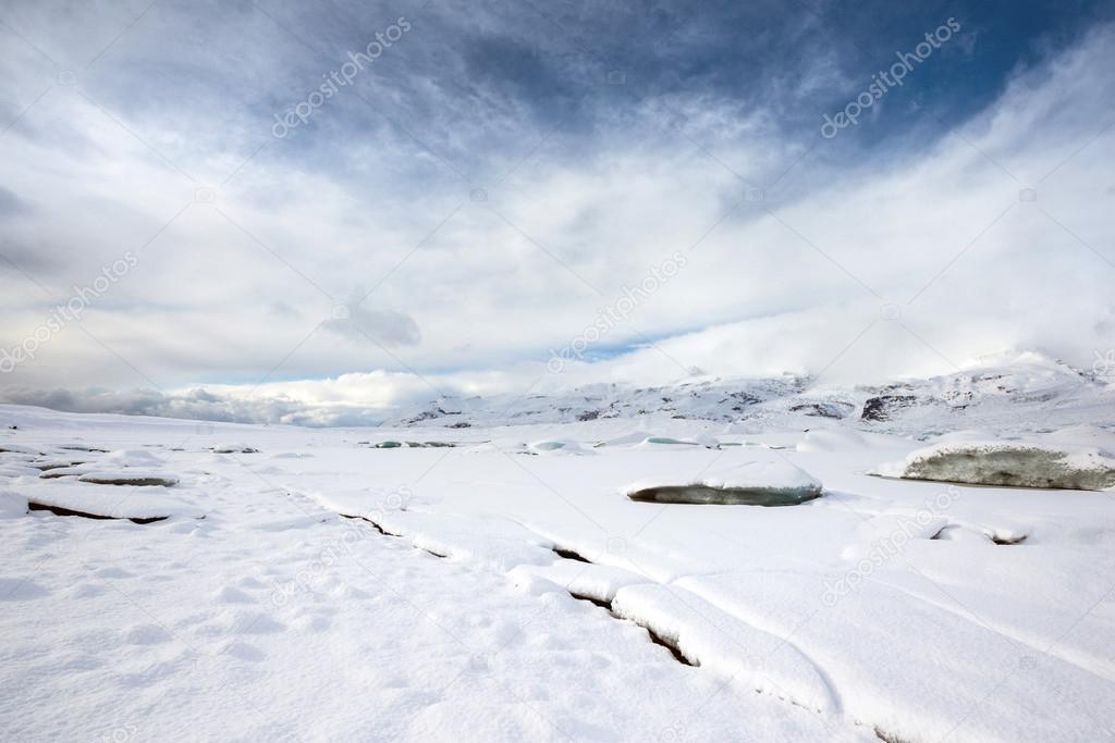 Glaciers of the Fjallsarlon Glacier in Iceland