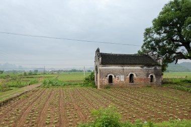 traditional brick farmhouse
