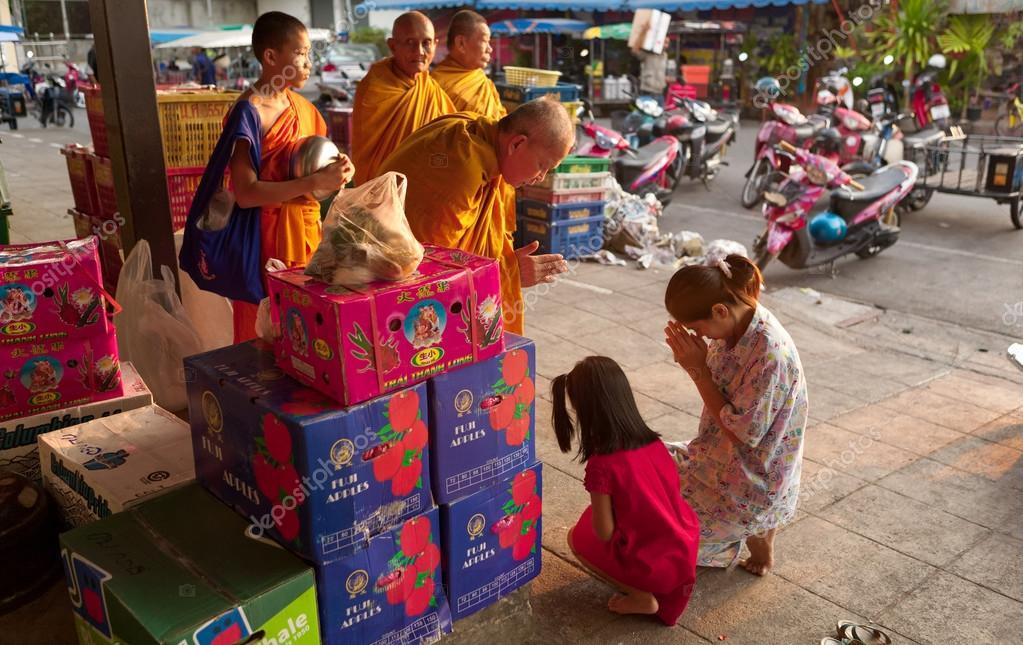 Buddhist monks in Thailand