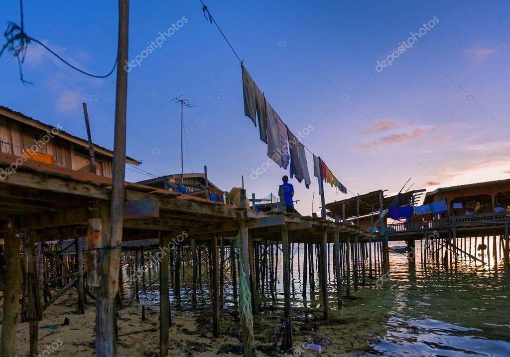 Sunset  in Mabul Island
