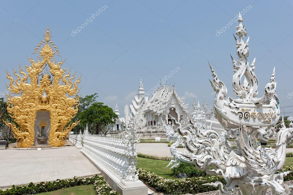 Wat Rong Khun temple in Chiang Ma