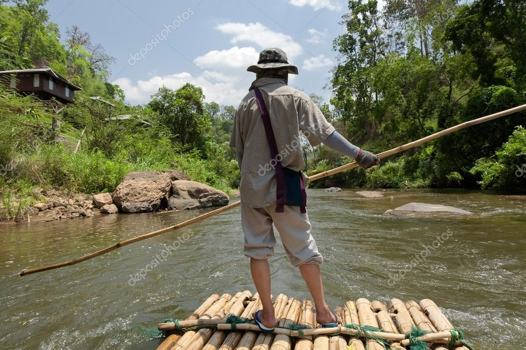 Bamboo rafting in China