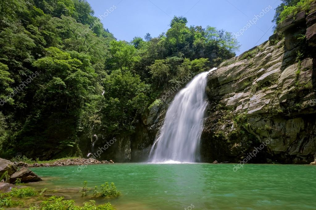 Waterfall in Longji, China