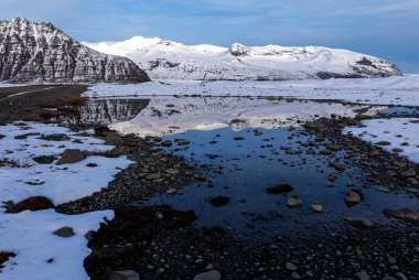 Scenic landscape of southern Iceland