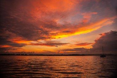 Sunrise on the coast of Sabah