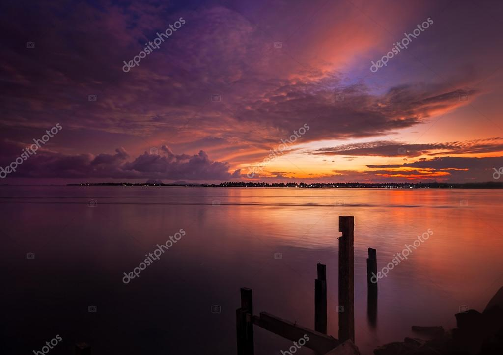 Sunrise on the coast of Sabah