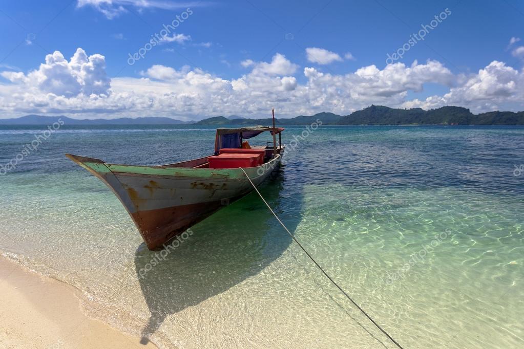 Fishing boat on the sea gypsies