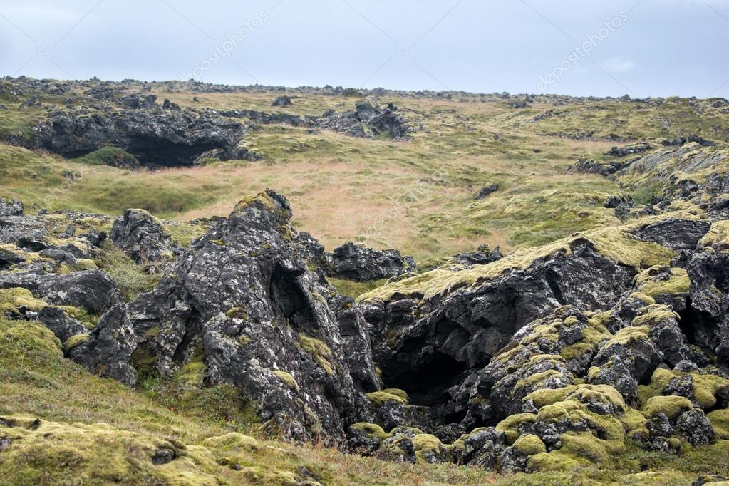 lava landscape in Iceland