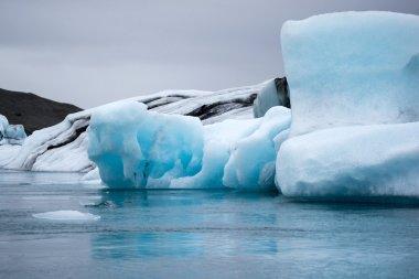 """Картина, постер, плакат, фотообои """"ледник в воде фото"""", артикул 83489166"""