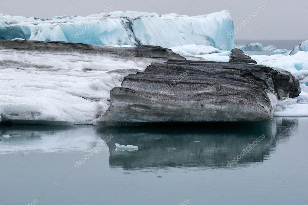 glacier ice in water