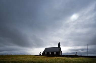 Budir Black Church in northern part of Iceland