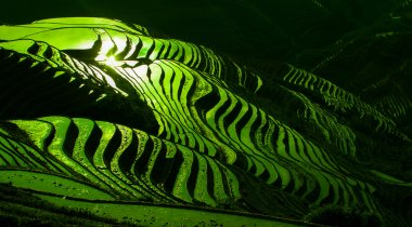 Yao Ethnic minority people's village in Guangxi Province, China