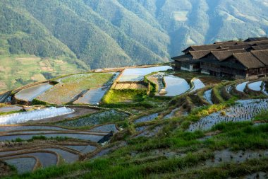 Zhuang ethnic minority village in Guangxi Province, China.