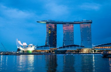 Singapore business district cityscape