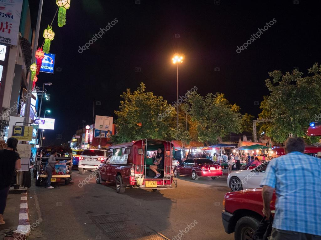 Vida Nocturna De Chiang Mai Tailandia Foto Editorial De Stock