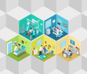 Fotografie Hospital clinic interior isometric concept