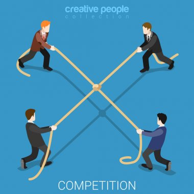 Business competition isometric concept