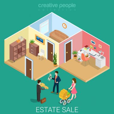 Isometric business concept