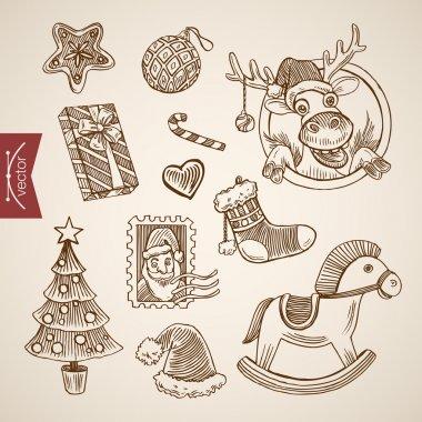 Engraving style illustration