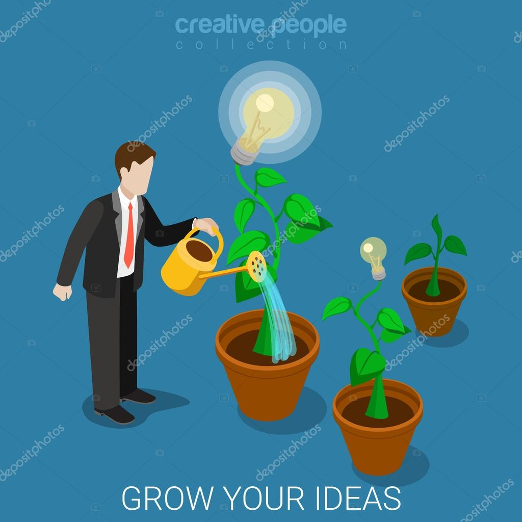 grow your idea infographics illustration ストックベクター