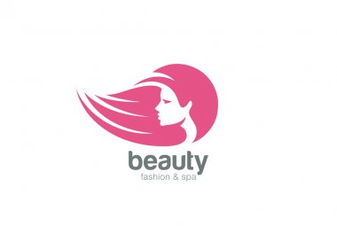 Beautiful woman head abstract Logo
