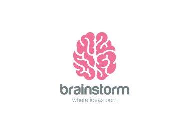 Brain Logo silhouette