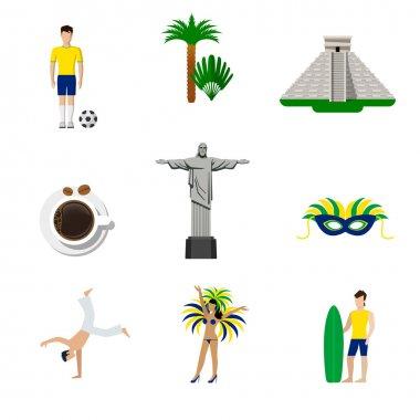 Brasil Brazilian national icons.