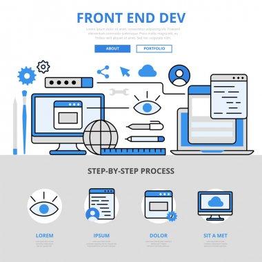 Modern website infographics illustration