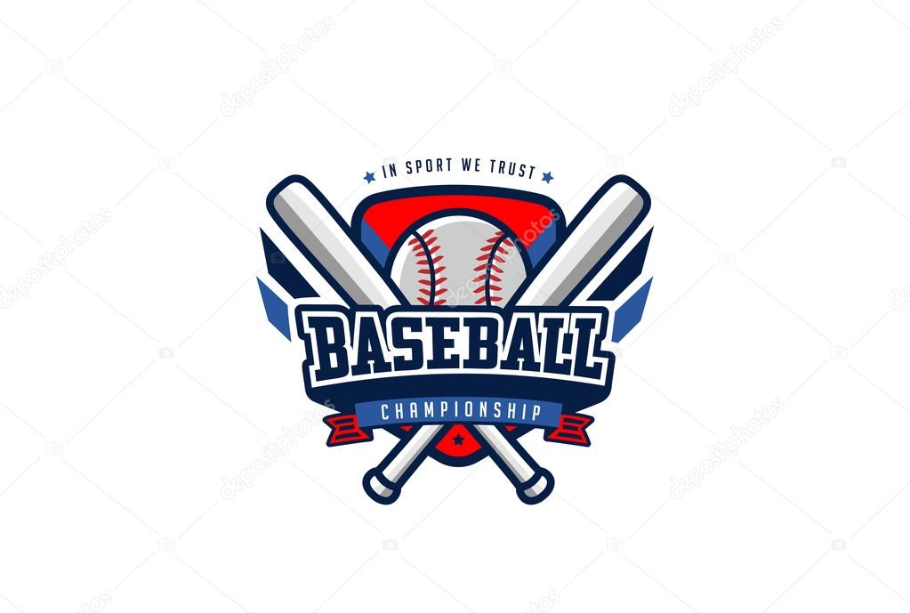 Béisbol Insignia Logo — Vector