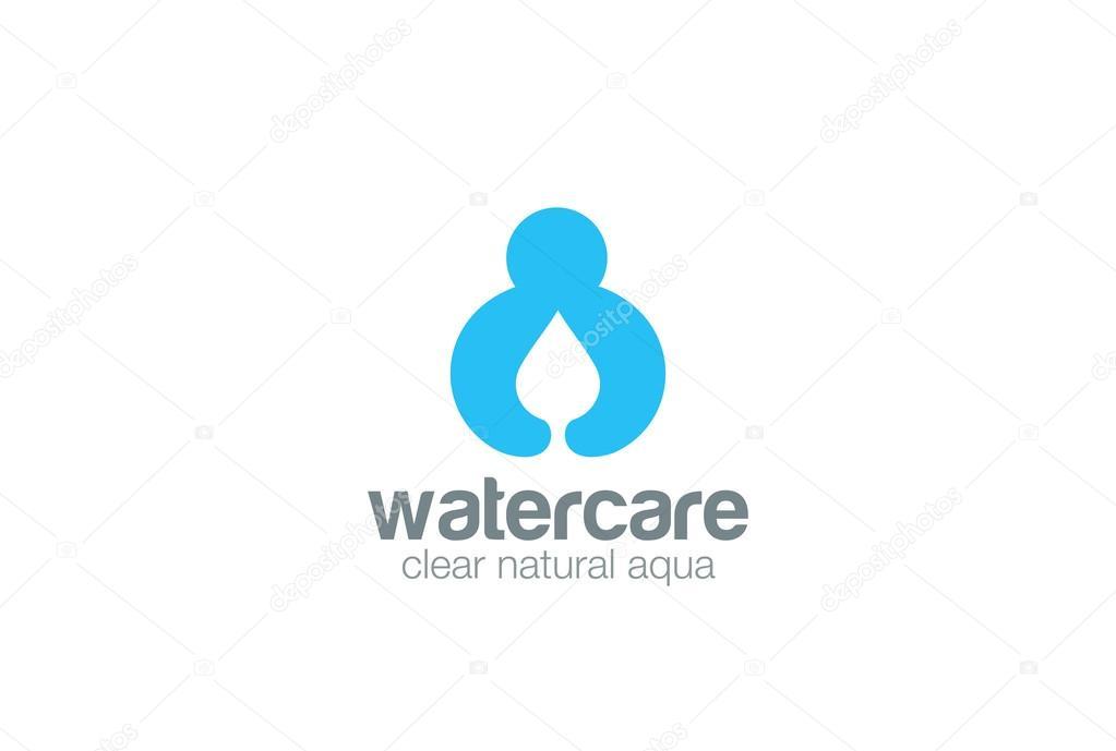 Water Droplet Holding Hands Logo Stock Vector Sentavio 110923228