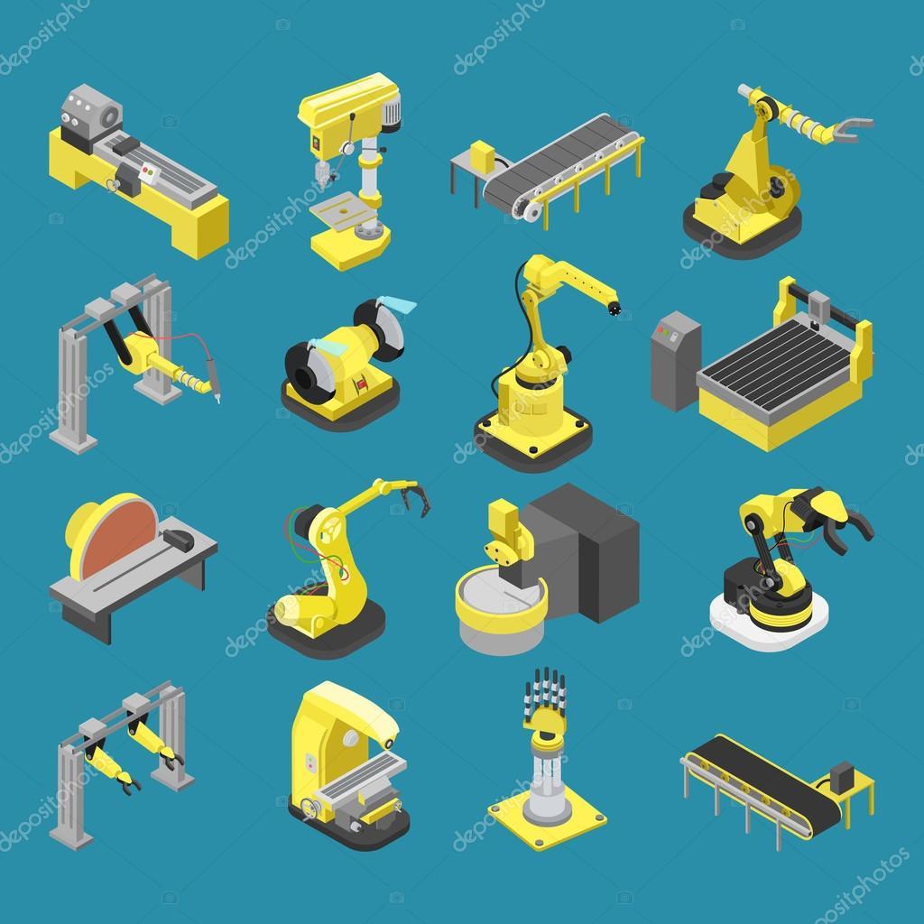 robotics industry infographics illustration