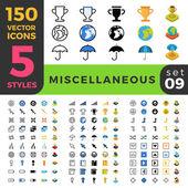 150 různé sportovní win různé ui sada ikon.