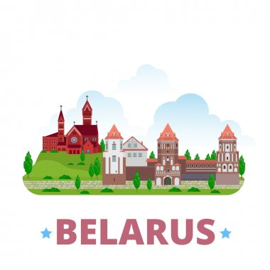 Belarus country design template.