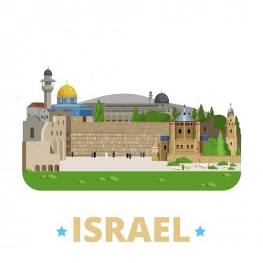 Israel country design template.