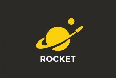 Rocket Planet Logo design
