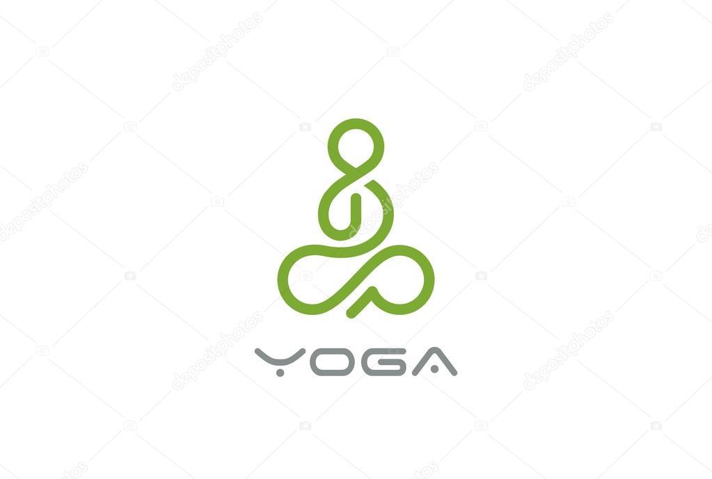 yoga logo design � stock vector 169 sentavio 118294626