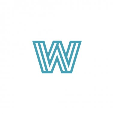 Impossible Letter W Logo design