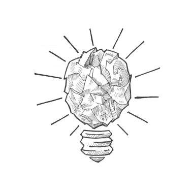 lamp bulb idea brainstorming