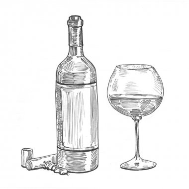 painting illustration wine
