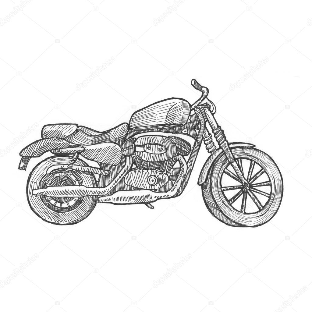Dibujos Motos A Lapiz Lápiz De Motos Pintura Ilustración Foto