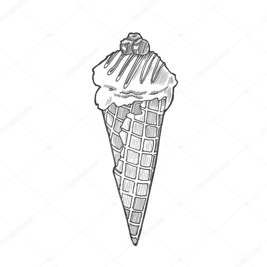 Illustration Icecream Cone Stock Photo C Sentavio 83131126