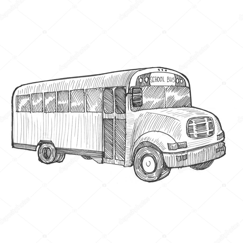 Painting bus illustration stock photo sentavio 83131274