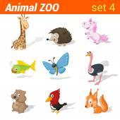 Fotografie Lustige Kinder Tiere Symbole Satz