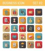 Plochý design podnikání ikony