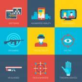 Fényképek icons set virtual augmented reality