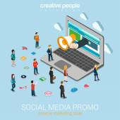 Fotografie Social media marketing online promotion