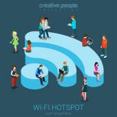 Veřejné bezplatné Wi-Fi hotspotu zóna