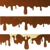 Fotografie geschmolzene heiße Schokolade Tropfen