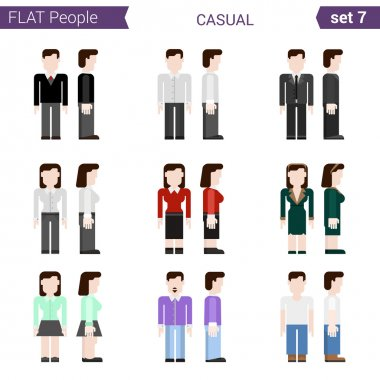 Flat style people icon set